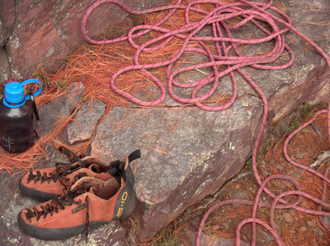 Sports equipment - Rock-climbing equipment: Rope and climber's shoes