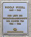 Gedenktafel Wiesenerstr 22 (Templ) Rudolf Karl Ludwig Wissell.JPG