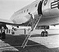 Generaal Eisenhower landde met zijn Constellation 'Colombine' op vliegbasis Gilz, Bestanddeelnr 905-1203.jpg