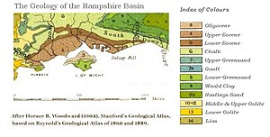 Hampshire Basin - Geological map of the Hampshire Basin