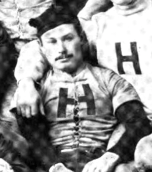 George C. Adams - Adams pictured on the Harvard football team, c. 1886