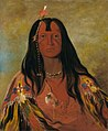 George Catlin - H'co-a-h'co-a-h'cotes-min, No Horns on His Head, a Brave - 1985.66.146 - Smithsonian American Art Museum.jpg