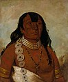 George Catlin - Téh-tóot-sah (better known as Tohausen, Little Bluff), First Chief - 1985.66.62 - Smithsonian American Art Museum.jpg