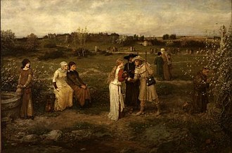 George Henry Boughton - Image: George Henry Boughton Godspeed! Pilgrims setting out for Canterbury