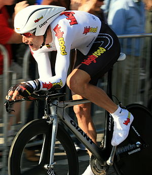George Hincapie - Hincapie in the Prologue of the 2008 Tour of California