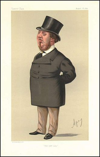 President of the Local Government Board - Image: George Sclater Booth, Vanity Fair, 1874 08 08