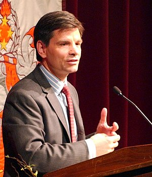 George Stephanopoulos - Stephanopoulos speaking at Virginia Tech in March 2006