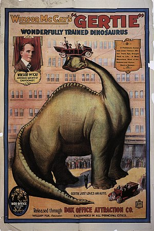 Advertising poster for Winsor McCay's film Ger...