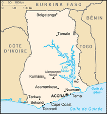 Description de l'image Ghana carte.png.