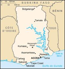 Description de l'image Ghana carte.png.