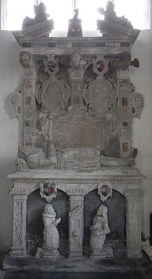Brightley, Chittlehampton - The Giffard Monument, 1625. North wall of north transept