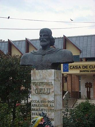 Gelou - Gelou. Statuary in Gilău, Romania