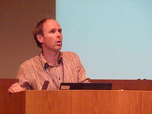 Gilean McVean - Gilean McVean speaking at the 2010 GEM meeting at the Wellcome Trust Sanger Institute (WTSI), Hinxton.