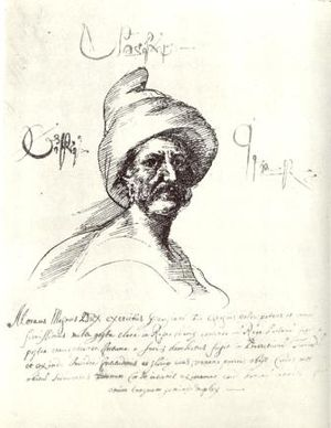 Giorgi Saakadze - Saakadze's portrait drawn by Teramo Castelli in Constantinople in 1626.