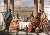 Giovanni Battista Tiepolo - The Banquet of Cleopatra - WGA22289.jpg