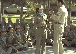 Conscription in Iran - Female soldiers from before the Iranian revolution