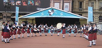 St. Marys Band Club Pipe Band - Image: Glasgow 2008 georgesquare bandclub