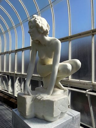 Elf - Glasgow Botanic Gardens. Kibble Palace. William Goscombe John, The Elf, 1899.
