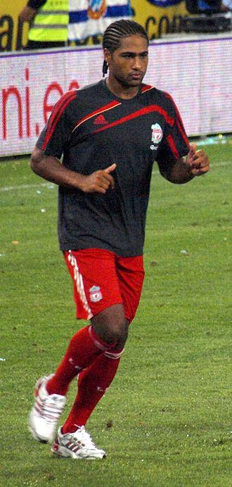 Glen Johnson - Johnson warming up for Liverpool in 2009