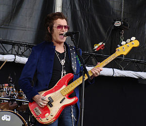 Glenn Hughes - Hughes with his new band Black Country Communion at Azkena rock festival, Vitoria-Gasteiz, Spain, June 2011.