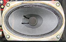 Altoparlante magnetodinamico ellittico (vista anteriore)