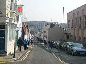 North Laine - Looking east down Gloucester Road