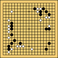 Game of Go in progress