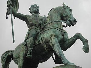 Eugène Simonis - Godfrey of Bouillon, Royal Square, 1848