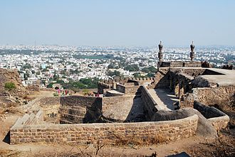 Golkonda - Fort overlooking the city of Hyderabad