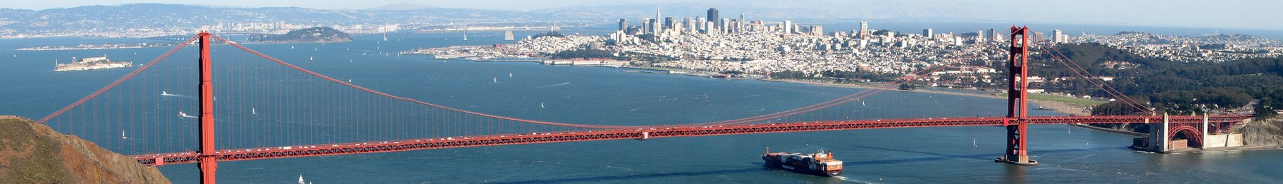The Golden Gate Bridge and San Francisco Bay