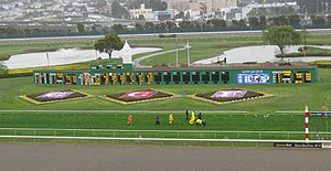 English: Golden Gate Fields racetrack, San Fra...