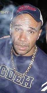 Goldie, one of the most recognizable drum and bass artists.