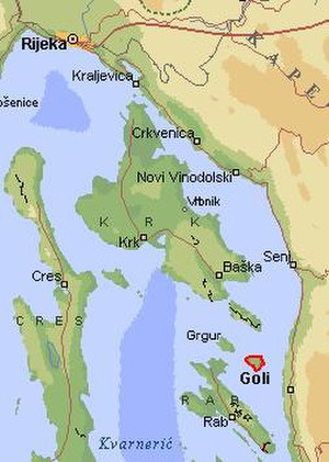 Goli otok - Goli otok and its neighboring islands