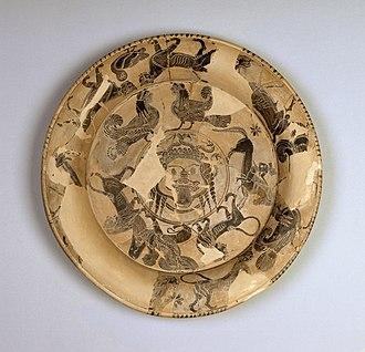 Gorgon Painter - Black-Figure plate attributed to The Gorgon Painter, ca. 600 BCE