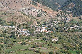 Grabovë e Sipërme Village in Elbasan, Albania