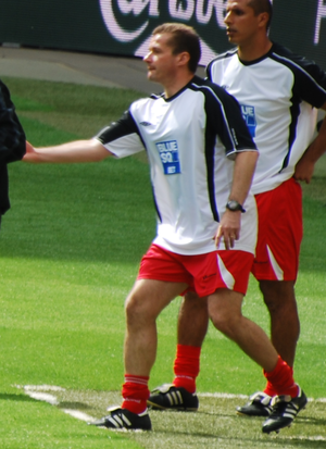 Graham Westley - Westley managing Stevenage Borough in the 2009 FA Trophy Final