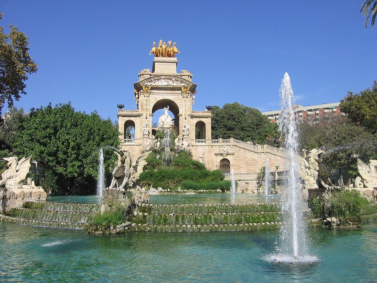 Cascada del parque de la ciudadela wikipedia la for Parques de barcelona