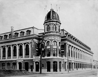 Shibe Park - The Steeles' French Renaissance design included a signature tower and cupola, 1909