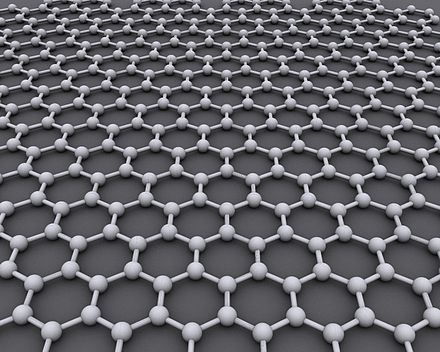 Graphene is an atomic-scale honeycomb lattice made of carbon atoms. Graphen.jpg