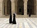Great Mosque of Aleppo, Women in black hijabs, Aleppo, Syria.jpg