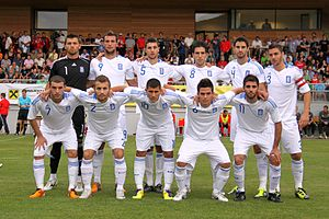 Greece national under-21 football team - Greece U-21-national football team (2011-09-05).