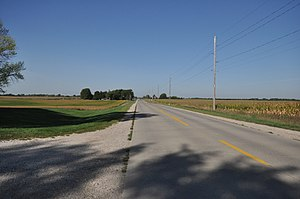 Lincoln Highway in Greene County, Iowa - County Road E53, formerly part of the Lincoln Highway