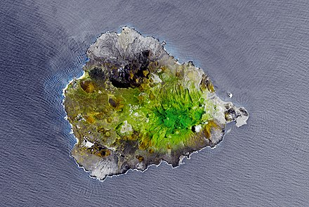 Satellite picture of Ascension Island in 2010 Greening Ascension Island.jpg