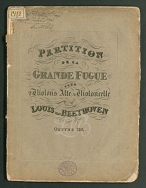 Große Fuge - Image: Grosse Fuge Artaria title page