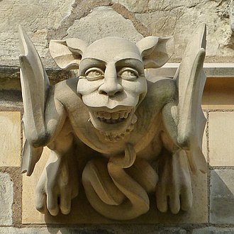 Grotesque of Selby Abbey (14th century) Grotesque, Selby Abbey (6993387433).jpg