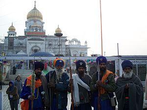 Gurudwara Bangla Sahib - Sikh devotees at Gurdwara Bangla Sahib