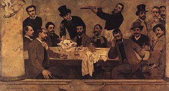 Columbano Bordalo Pinheiro - The Lion's Group (1885)
