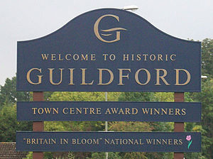 Britain in Bloom - Image: Guildford Welcome Sign