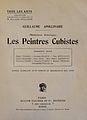 Guillaume Apollinaire, Les Peintres Cubistes, 1913.jpg