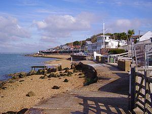 Gurnard, Isle of Wight - Image: Gurnard beachfront, IW, UK